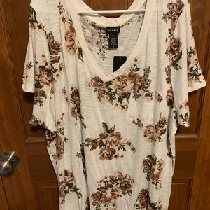 TORRID Floral white graphic tee